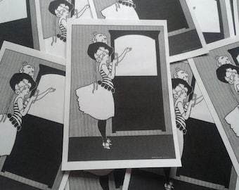 Gay '90s Girl Bookplates Lot of 10 Charles Austin Bates Illustration