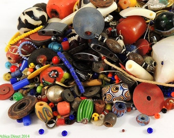 Mixed Trade Beads Grab Bag 4-5 Ounces African 28445