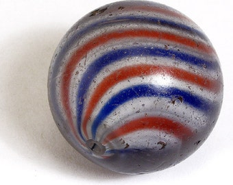 German Marble Glass Trade Bead Africa 58770 SALE WAS 654