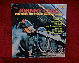 JOHNNY CASH - The Rough Cut King of Country Music - 1971 Vintage Vinyl Record Album
