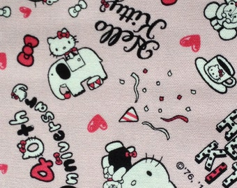 Hello kitty  fabric One yard 40th anniversary fabric 2014 new fabric light pink colour