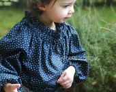 Starry Night Long Sleeve Navy Tunic Blouse Autumn Winter 2013 by Papoose Clothing - papooseclothing