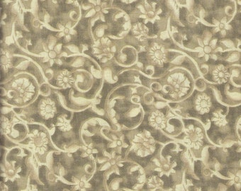 Beige Fabric Taupe Fabric Floral Fabric Light Brown Swirl Fabric Blender Fabric 4 3/4 Yards Cotton Quilting Fabric Sewing Supplies YacketUSA