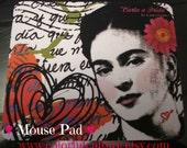 Letter for Frida - Carta a Frida - Original Art by Laura Gomez - Mouse Pad - Frida Kahlo - Mexican Folk Art