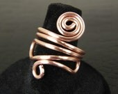 Funky Copper Wire Ring, Womens Ring, Copper Ring, Wire Ring