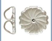 Ear Nuts Sterling Silver Premium Earring Backs 9.2x9.4mm Swirl - 2prs (6363) 10% discounted