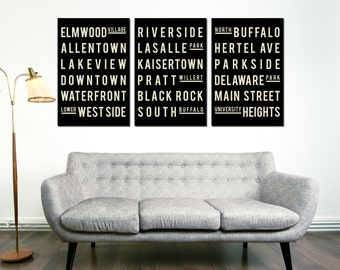 BUFFALO, Art Poster, Subway Art, Quote Sign, Home Decor, Typography Print, Housewarming Gift, Gift for Best Friend, Art Poster, New Home