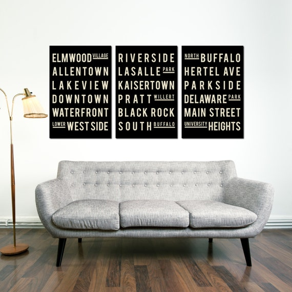 buffalo art poster subway art quote sign home decor