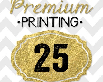 25 5x7 PREMIUM PRINTED double-sided INVITATIONS on thick cardstock and free white envelopes