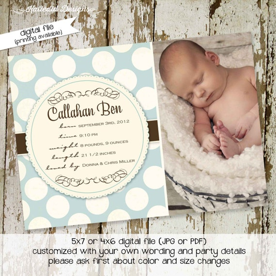 baby boy birth announcements photo lds mormon baptism christening sip and see baby blessing high tea bash (item 428) shabby chic invitations