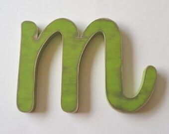 Letter M wooden letter - 8 inch