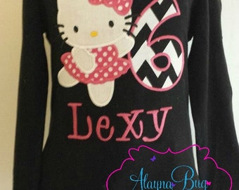 Kitty birthday shirt