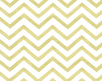 "End of Bolt 1 Yard 29"" Glitz Pearlized Sleek Chevron"
