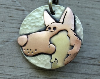 German Shepherd Dog Tag - Large Dog ID Tag -Personalized Shepherd dog tag or key chain
