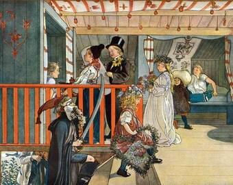 Birthday Card - Children on Parade - Carl Larsson Repro