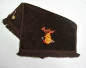 Brown cookout towel, grill towel