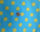 Euro limeade Cotton Lycra Polka dot