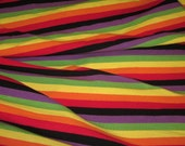 "Kabuki-San 3/8"" Cotton Lycra Stripe Knit Fabric"