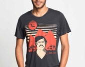 Free Shipping - Unisex (Mens / Womens) Colombia Medellin Pablo screen printed T shirt