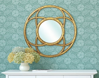 Medium Lace Allover Wall Stencil - Shabby Chic Wall Mural - Vintage Wallpaper Look for Less