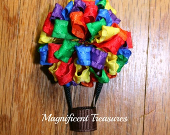Hot Air Balloon Loopy Puff Bow