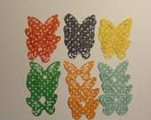 Summer Butterfly Punchies x 50 Doubled Sided Summer Dot Colours