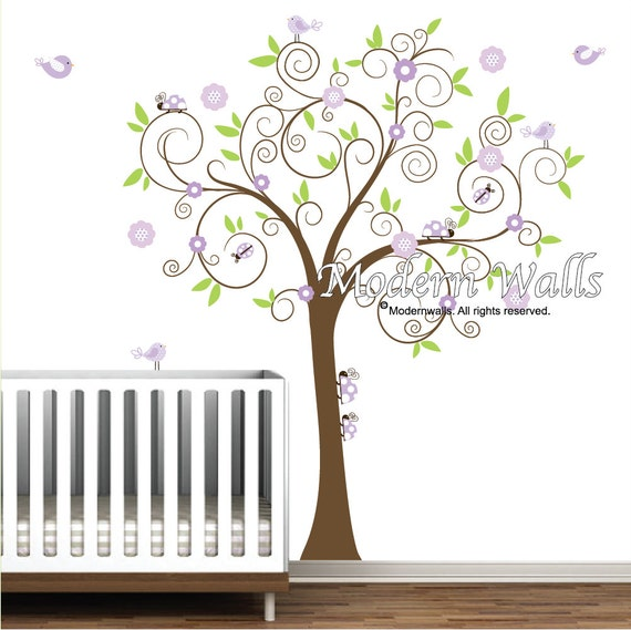 Baby Girl Wall Decor Etsy : Children wall decals vinyl decal with ladybugs and