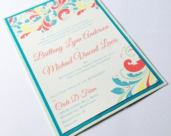 Spring Flourish 2 - Custom Wedding Invitations