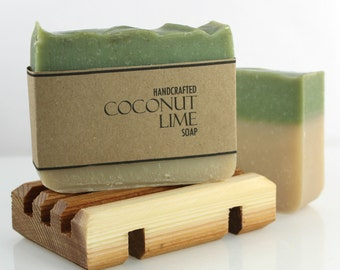 Coconut Lime Soap, Handmade Soap, Vegan Cold Process Soap