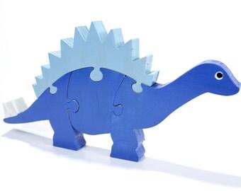 Stegosaurus Dinosaur Decor and Puzzle - Dinosaur Toy - Nursery Decor