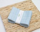 Custom Listing for Dana - Large Cloth Napkins - 2 Sets of 4 - (N1549) - Blue Modern Reusable Fabric Napkins