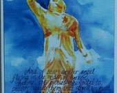"NEW ! Bookmark- Angel Moroni - PACK of 6- Printed on glossy cardstock- 2""x 6"" GREAT Full time missionary gift !"