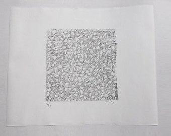 Modernist American Lithograph No. 9  - Mark Tobey 1969 Hand Signed
