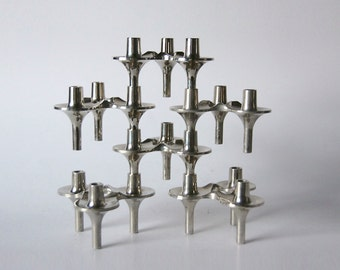 Vintage Candle Holders BMF 'Orion'  - Set of 6