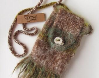 Tote - 100% Mohair & Alpaca with Antler Button