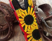 Hand painted big beautiful Sunflower Boot Jack