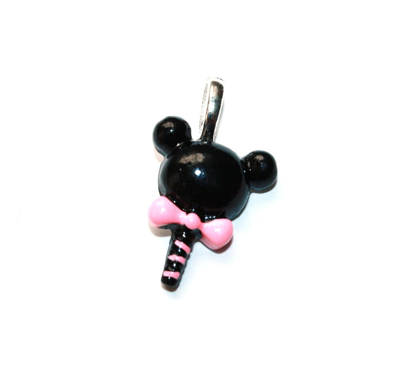 handmade minnie mickey mouse pendant necklace by
