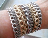 Chain Link Bracelet with Heavy Magnet Clasp ~ Bikers Goths Rockers Hipsters
