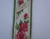 Flower June Cross Stitch Bookmark