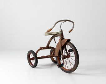 vintage tricycle, old toy trike