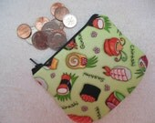 Chopsticks Please coin pouch Out of Print Fabric-LAST ONE