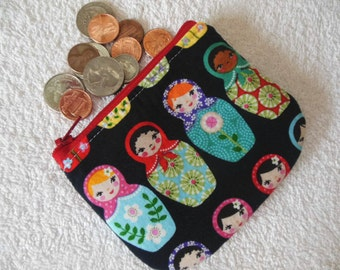 Matryoshka Dolls coin pouch