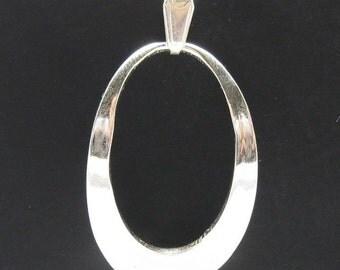 PE000364 Sterling silver pendant   925 ellipse quality