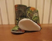 Camouflage baby slippers- soft boots- crib shoes-