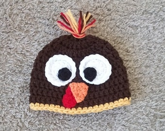 Baby Turkey Hat, Newborn Thanksgiving Prop, Toddler Fall Hat, Newborn Turkey Hat, Toddler Turkey Hat, Baby Fall Hat, Baby Halloween Costume