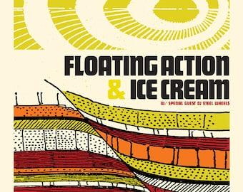 Floating Action Concert Poster, Asheville, NC