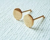Flat Circle Earrings - Circle Studs - Circle Earrings -