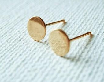 Flat Circle Earrings - Circle Studs - Circle Earrings -