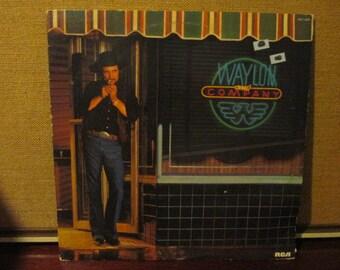 Waylon Jennings Waylon & Company Concert Collectible Vinyl Record VG to EX Condition
