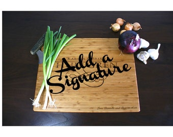 ADD-ON: Personalized Signature for your Cutting Board or Chopping Block